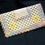 Pastel Flowers Checkbook Cover